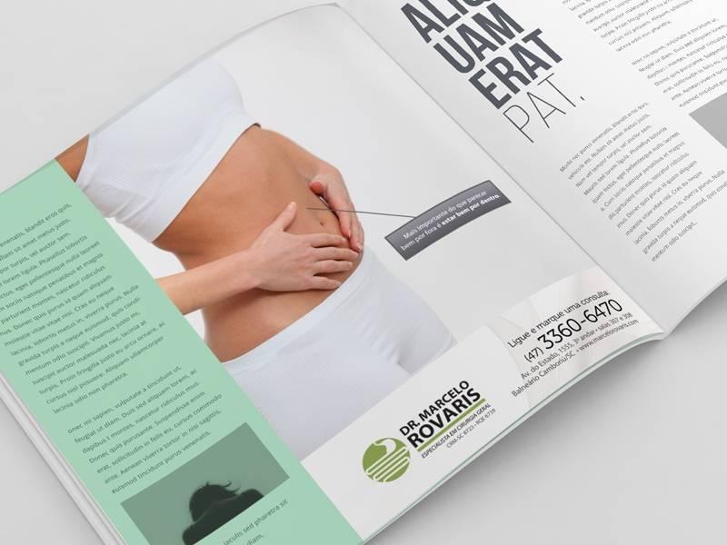 Anúncio de revista para a Clínica Dr. Marcelo Rovaris